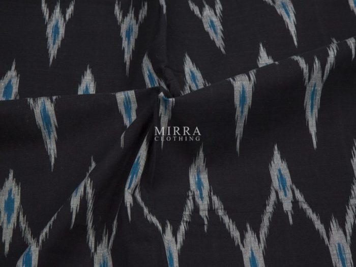 Handwoven Ikat Cotton Saree With Ikkat Blouse