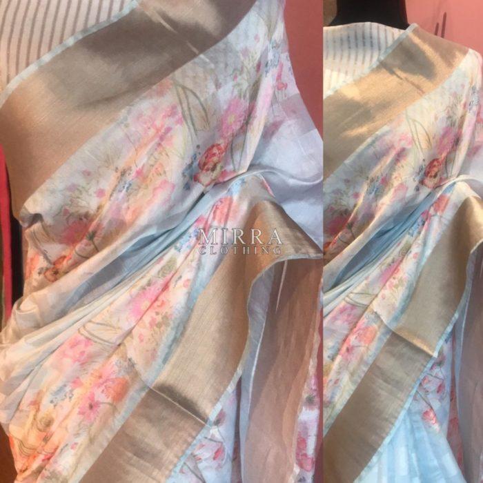 Digital Printed Silk Tussar Blend