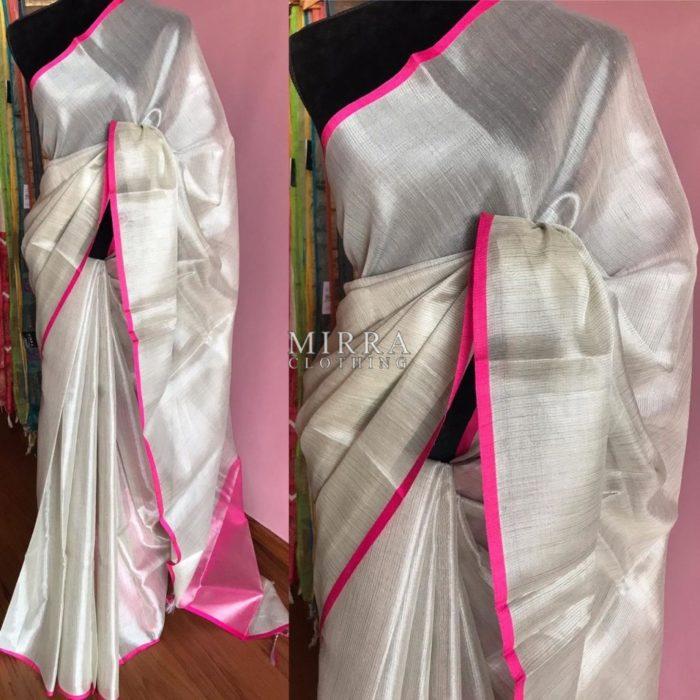 Soft Linen Tissue Silk Saree