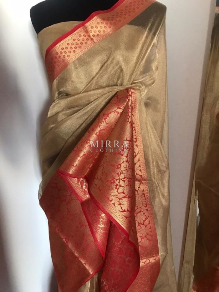 Pure Kota Tissue Silk Saree