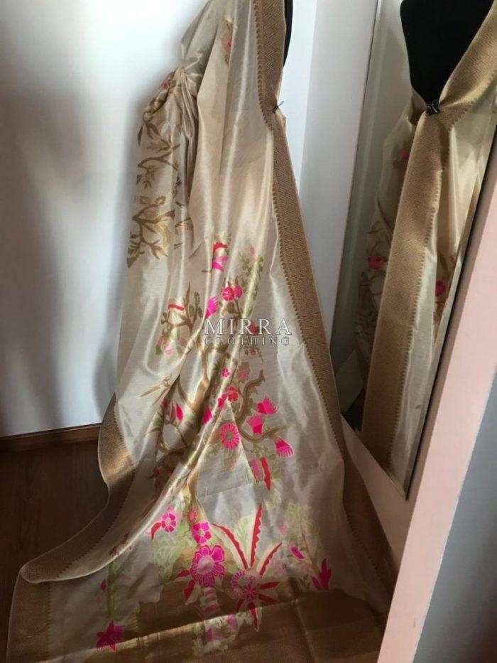 Banarasi Silk Saree With Meenakari Work
