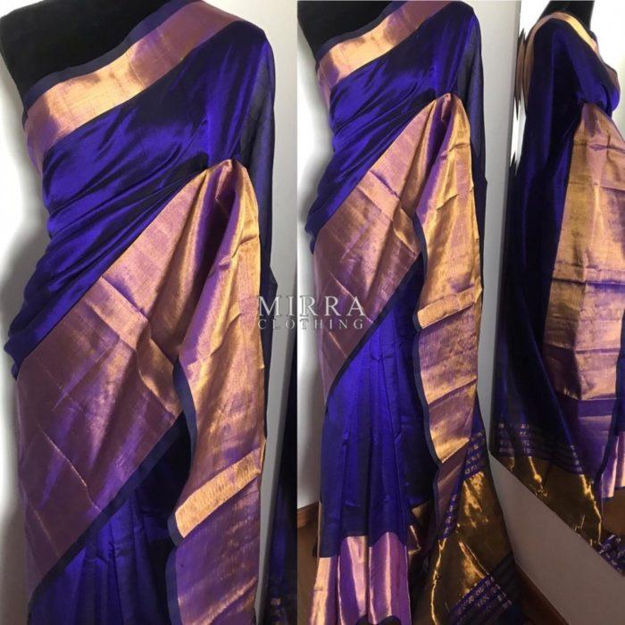 Handloom Pure Mangalagiri Silk Saree