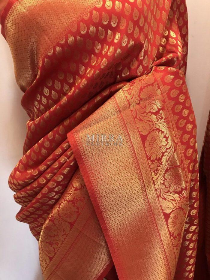 Pure Banarasi Brocade Silk Saree