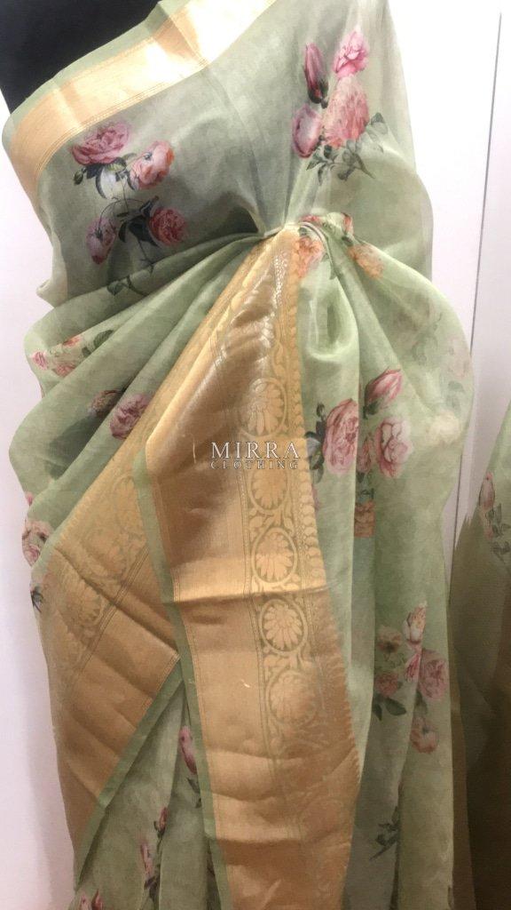 Pure Kancheevaram Organza Silk Saree