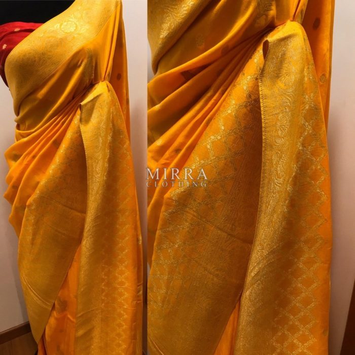 Pure Banarasi Silk Georgette Saree