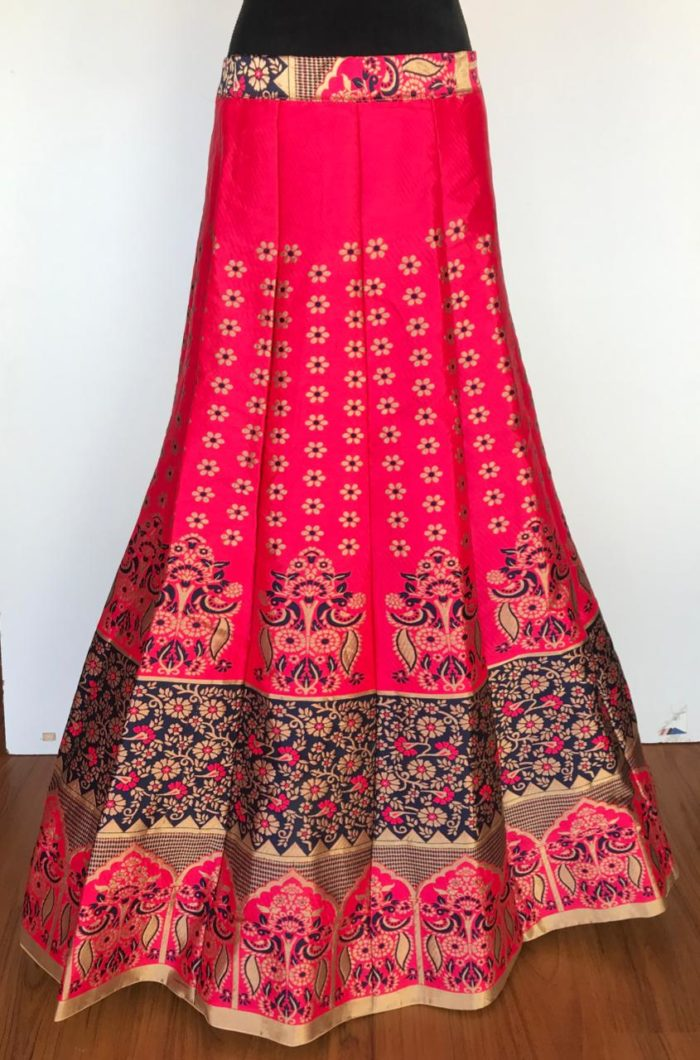 Hot Pink Banarasi Lehenga