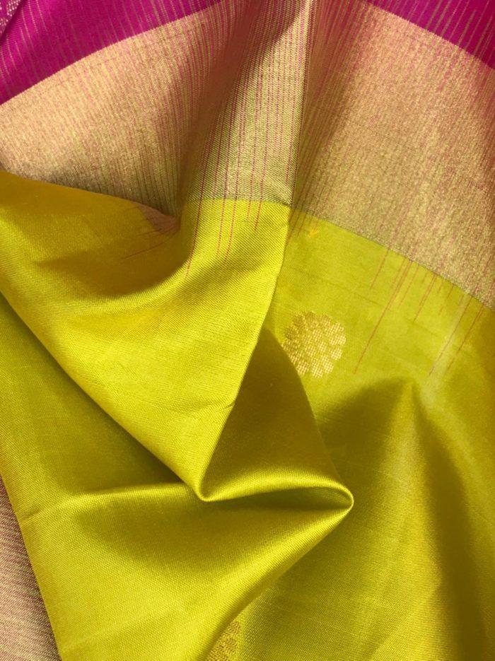Neon Green Pure Kanjivaram Silk Saree