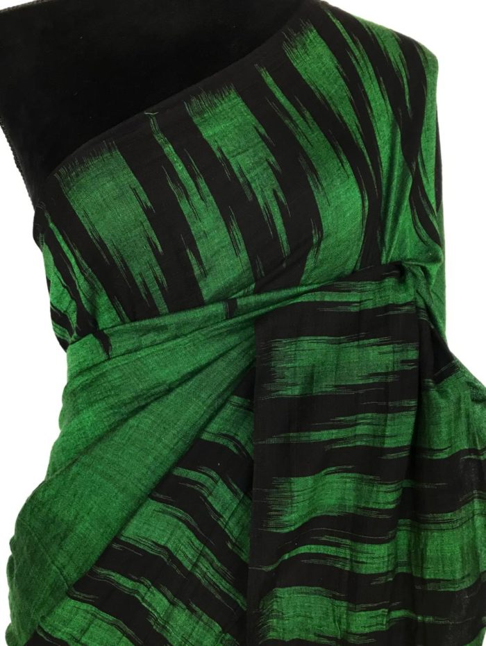 Green Sambalpuri Ikat Cotton Saree