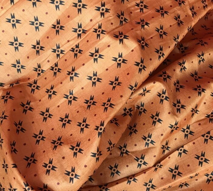 Black Banarasi Silk Saree with Printed Florals
