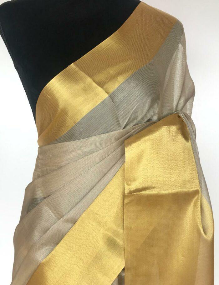 Gold Silver Tissue Silk Saree