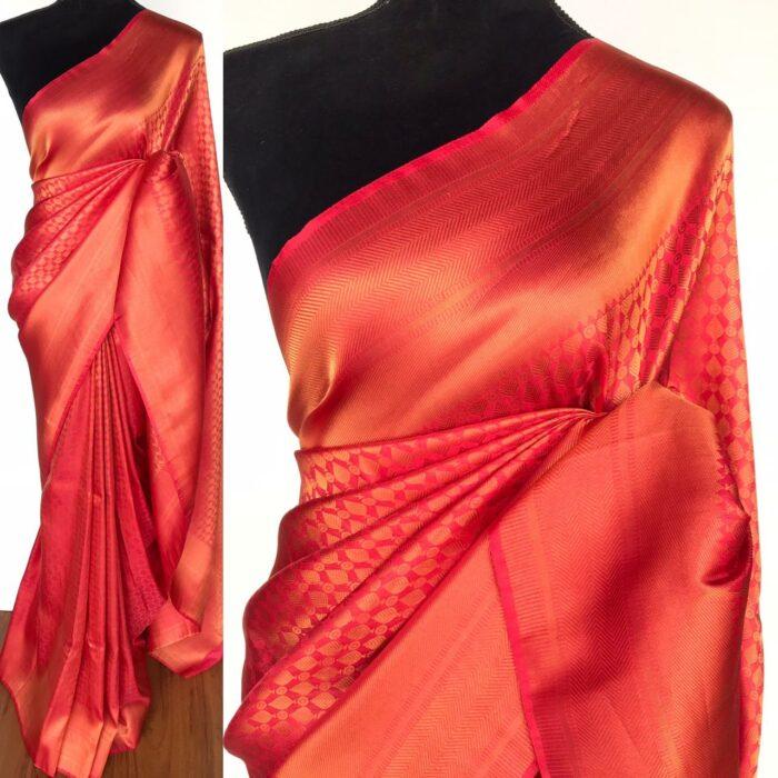 Pink Banarasi Silk Saree with Gold Zari Weaves