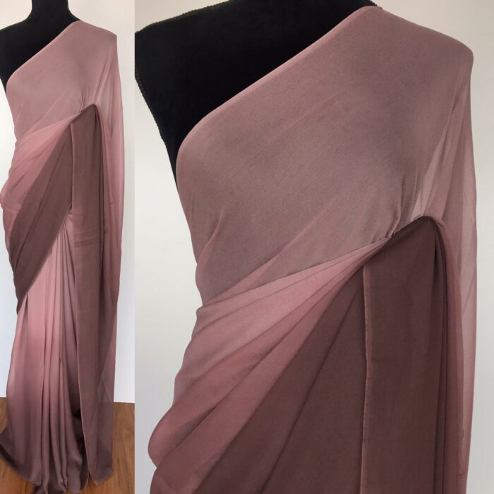 Mauve ombre Shaded Georgette Saree