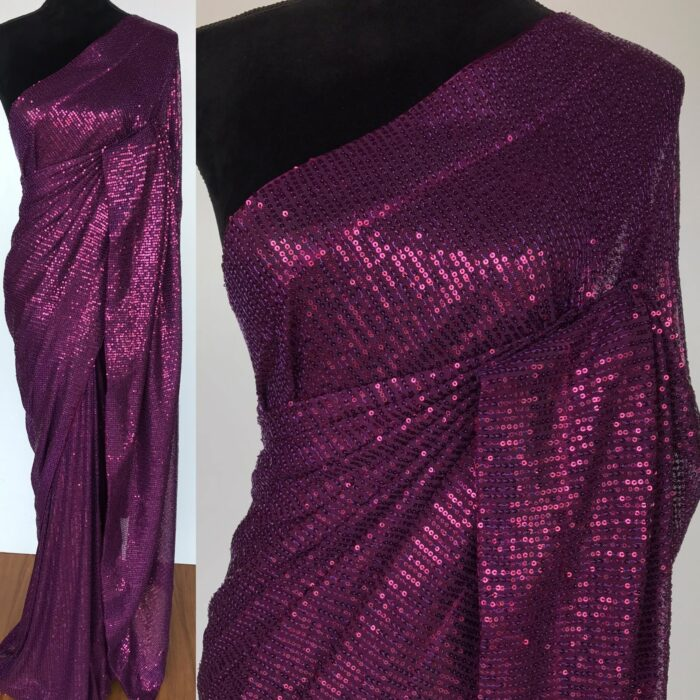 Magenta Georgette Saree with Embroidered Sequins