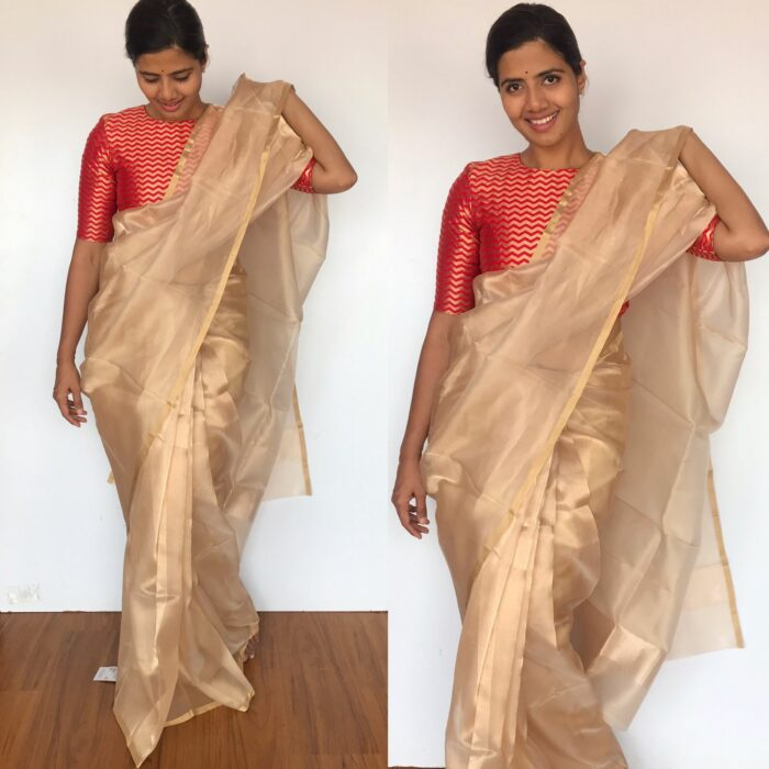 Pure Gold Tissue Silk Saree